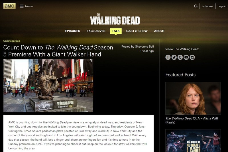 Large twd times square